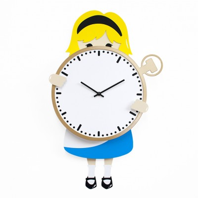 Progetti Alice Kids Wall Clock - Ideal for Children's Bedrooms