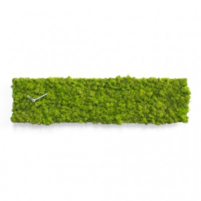 Progetti Clock_Circle Wall Clock - Covered in MOSS by Verde Profilo