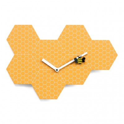 Progetti Time2Bee Wall Clock - The Honey Bee Hive Clock