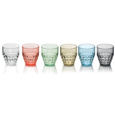 Guzzini Tiffany Low Tumblers (350ml) - Set of 6 Sparkling Colours