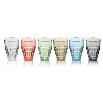Guzzini Tiffany Tall Tumblers (510ml) - Set of 6 Sparkling Colours