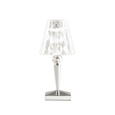 Kartell BATTERY Table Lamp metallic rechargeable - By Ferruccio Laviani