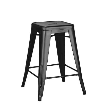 Tolix H65 Medium Stool Lacquered Steel (Genuine) - By Xavier Pauchard