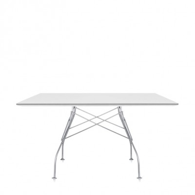 Kartell Glossy Square Table - Sophisticated Design & Elegant Finishing