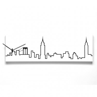 Progetti New York Skyline Wall Clock - FREE Shipping