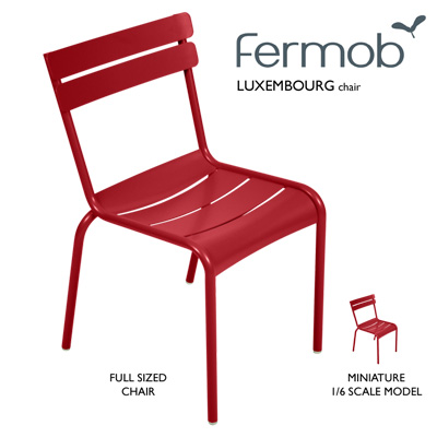 Fermob Miniature Luxembourg Chair - 1/6 Scale Model Chair (3 colours)