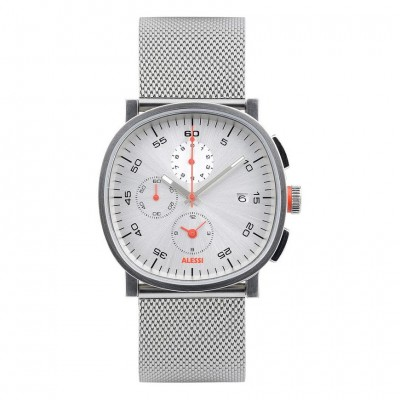 Alessi Tic15 Chronograph Watch AL5030 - Matt Silver Face