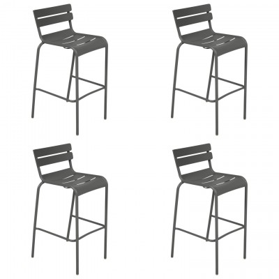 Tremendous Fermob Luxembourg High Bar Stools Set Of 4 Free Shipping Caraccident5 Cool Chair Designs And Ideas Caraccident5Info
