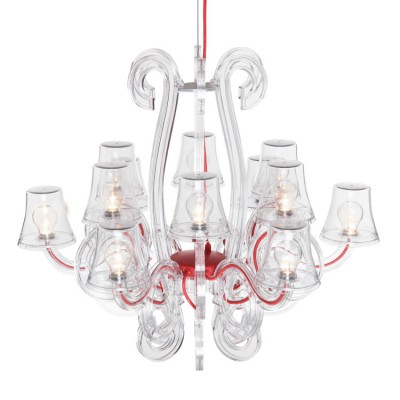 Fatboy RockCoco 12.0 LED Chandelier (12 lamps) - Transparent