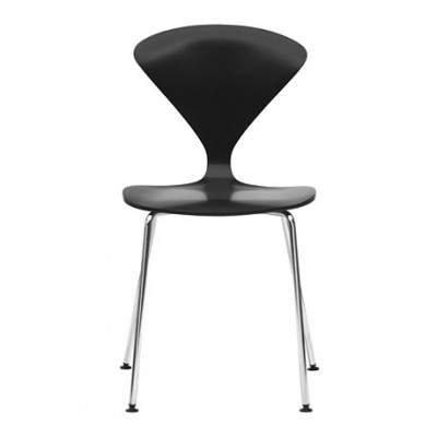 Cherner chair wood stacking chrome legs
