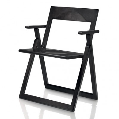 Magis Aviva Armchair (Folding) - In Natural or Black Stained Beech