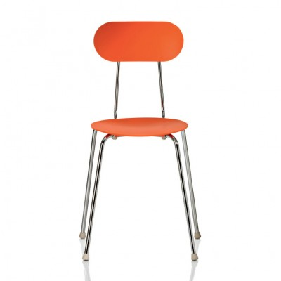 Magis Mariolina Chair (Stacking) - Orange, Grey Anthracite & White