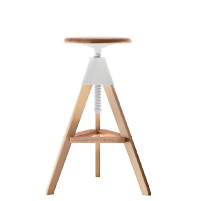 Magis Tom Bar Stool - Height Adjustable from Solid Beech Wood