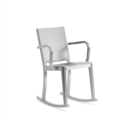 Emeco Hudson Rocking Armchair in Brushed or Polished Finish