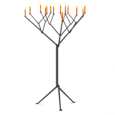 Magis Officina Floor Candle Holder (15 Arms) - Black or Galvanised Finish