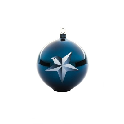 A di Alessi Blue Christmas Bauble - Star (hand-decorated)