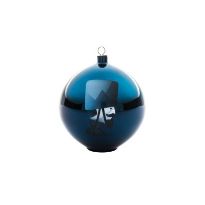 A di Alessi Blue Christmas Bauble - Soldier (hand-decorated)