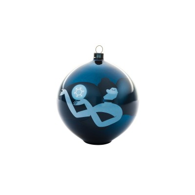 A di Alessi Blue Christmas Bauble - Dancer (hand-decorated)