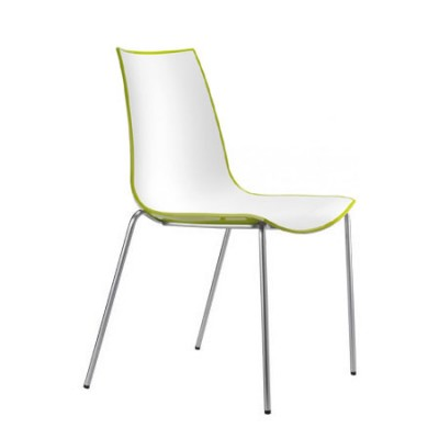 Pedrali 3D-Colour 775 Chair Stacking Bi-coloured
