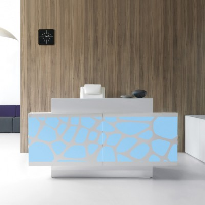 MDD ORGANIC Reception Desk with Glass Top (LOG13G)