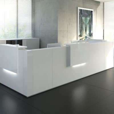 MDD TERA Reception Desk with Integrated Cable Ports