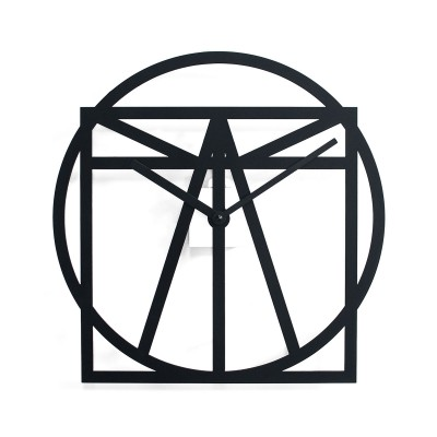 Progetti Vitruvius Wall Clock | Black or Copper Painted Steel