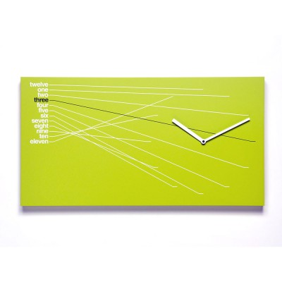 Progetti Timeline Wall Clock | Green, Black & Orange