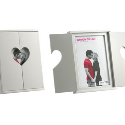 Present Time Love Heart Window Shutters Photo Frame
