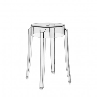 Kartell Charles Ghost Low 46cm Stacking Stool - Available in 9 Colours