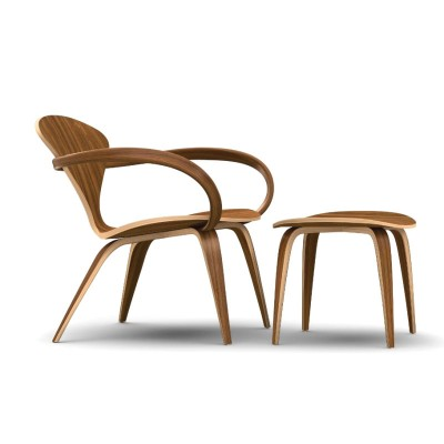 Cherner Lounger and Footstool