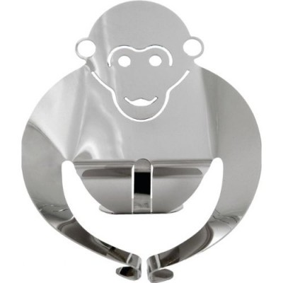 Alessi Gori monkey figurine stainless steel