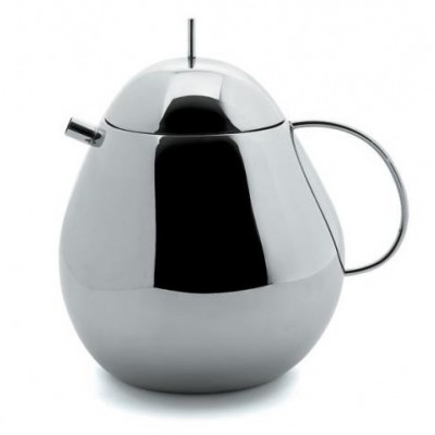 Officina Alessi Fruit Basket Teapot (18/10 Stainless Steel)