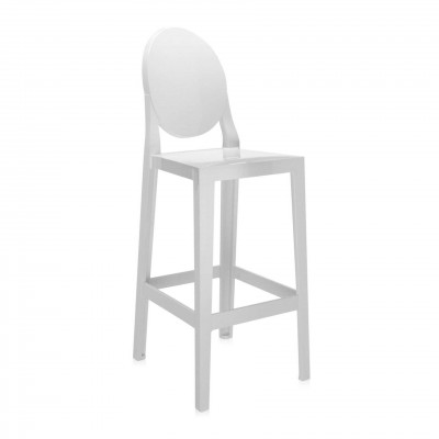 Kartell One More Barstool Rounded / Oval Back (75cm) by Philippe Starck