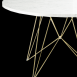 Magis XZ3 Round Table with Carrara Marble Top